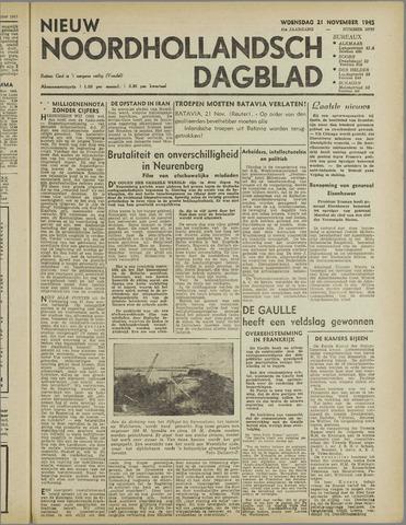 Nieuw Noordhollandsch Dagblad : voor Alkmaar en omgeving 1945-11-21