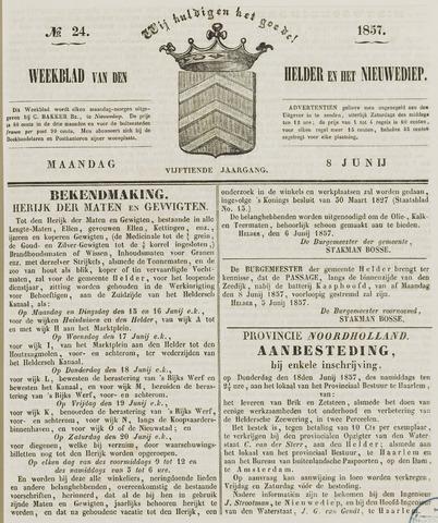 Weekblad van Den Helder en het Nieuwediep 1857-06-08