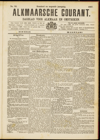 Alkmaarsche Courant 1907-01-29