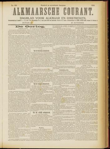 Alkmaarsche Courant 1915-10-12
