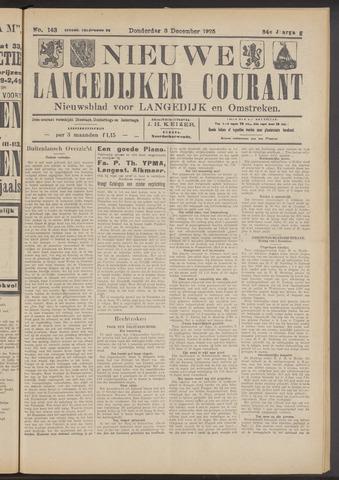 Nieuwe Langedijker Courant 1925-12-03