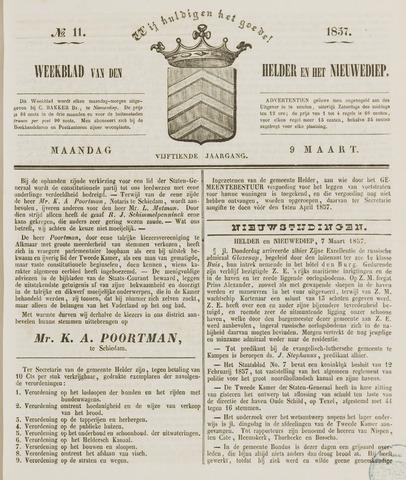 Weekblad van Den Helder en het Nieuwediep 1857-03-09