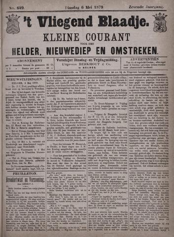 Vliegend blaadje : nieuws- en advertentiebode voor Den Helder 1879-05-06