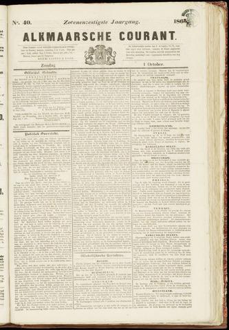 Alkmaarsche Courant 1865-10-01