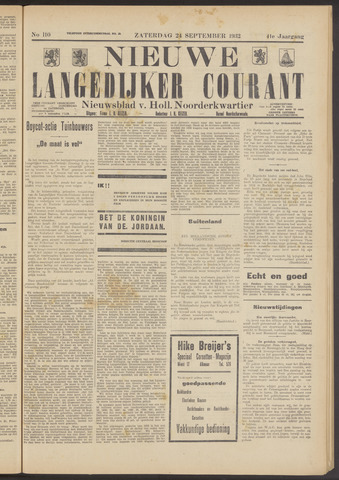 Nieuwe Langedijker Courant 1932-09-24