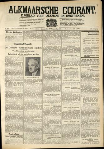 Alkmaarsche Courant 1934-09-20