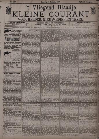 Vliegend blaadje : nieuws- en advertentiebode voor Den Helder 1887-12-24