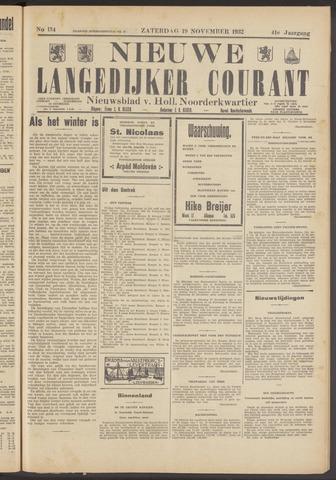 Nieuwe Langedijker Courant 1932-11-19