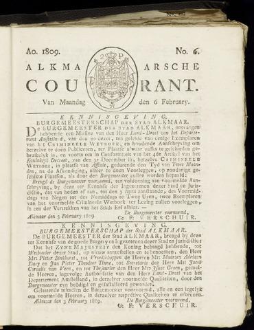 Alkmaarsche Courant 1809-02-06