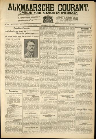 Alkmaarsche Courant 1934-07-10