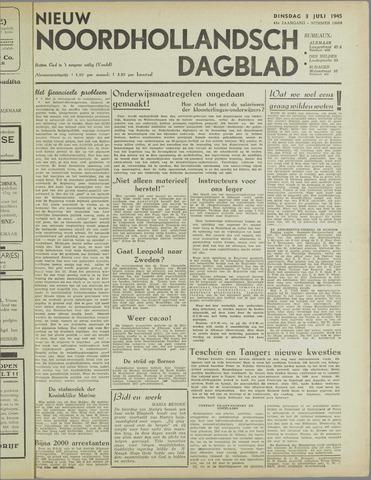 Nieuw Noordhollandsch Dagblad : voor Alkmaar en omgeving 1945-07-03