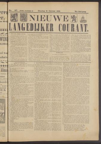 Nieuwe Langedijker Courant 1922-10-31