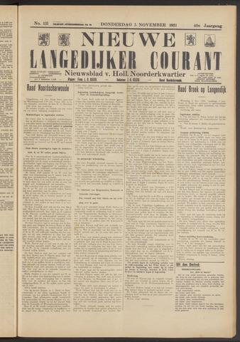 Nieuwe Langedijker Courant 1931-11-05