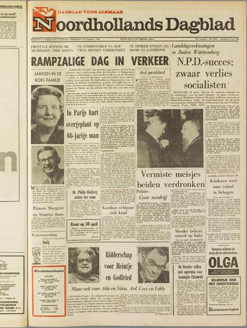 Noordhollands Dagblad : dagblad voor Alkmaar en omgeving 1968-04-29