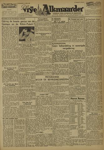 De Vrije Alkmaarder 1946-04-25