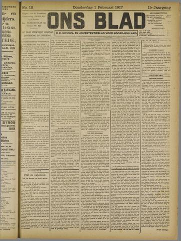 Ons Blad : katholiek nieuwsblad voor N-H 1917-02-01
