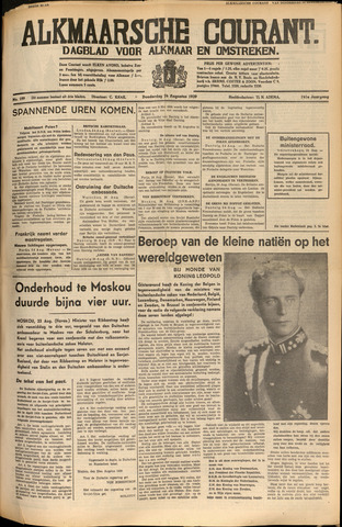 Alkmaarsche Courant 1939-08-24