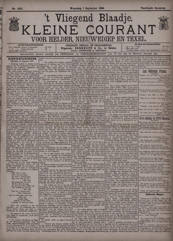 Vliegend blaadje : nieuws- en advertentiebode voor Den Helder 1886-09-01