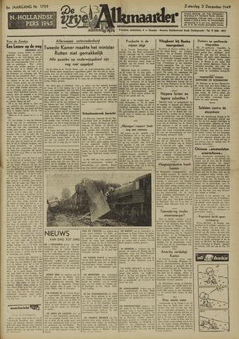 De Vrije Alkmaarder 1949-12-03