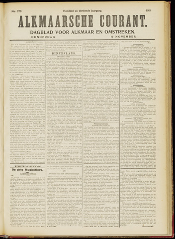 Alkmaarsche Courant 1911-11-16
