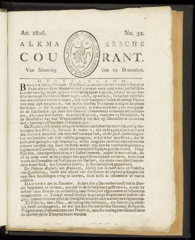 Alkmaarsche Courant 1806-12-29