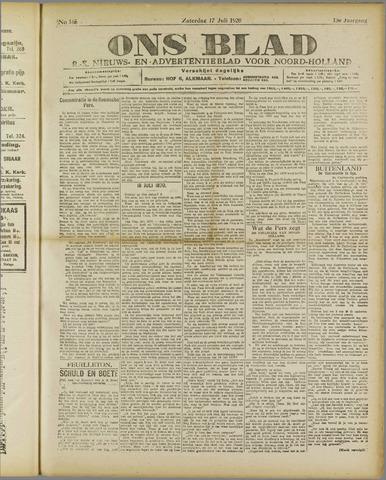 Ons Blad : katholiek nieuwsblad voor N-H 1920-07-17