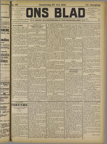 Ons Blad : katholiek nieuwsblad voor N-H 1916-07-27