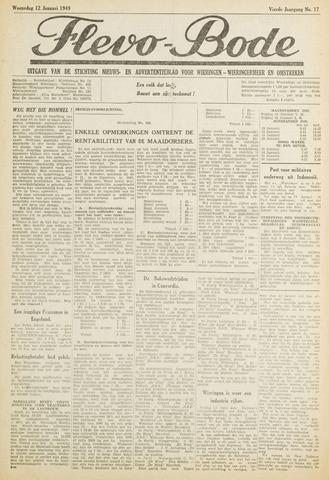 Flevo-bode: nieuwsblad voor Wieringen-Wieringermeer 1949-01-12