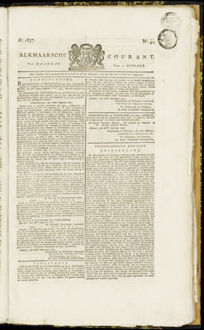 Alkmaarsche Courant 1837-10-02