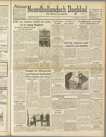 Nieuw Noordhollandsch Dagblad : voor Alkmaar en omgeving 1947-04-19