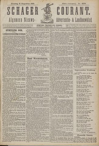 Schager Courant 1920-08-31