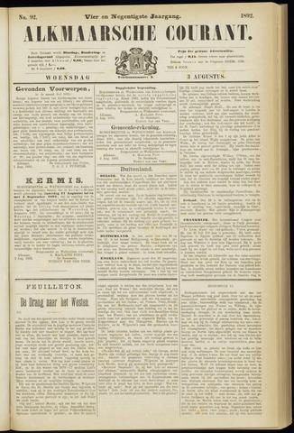 Alkmaarsche Courant 1892-08-03