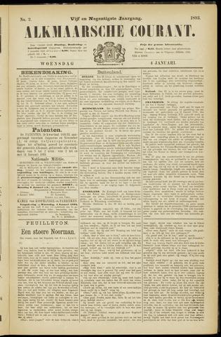 Alkmaarsche Courant 1893-01-04