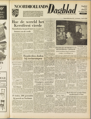 Noordhollands Dagblad : dagblad voor Alkmaar en omgeving 1953-12-28