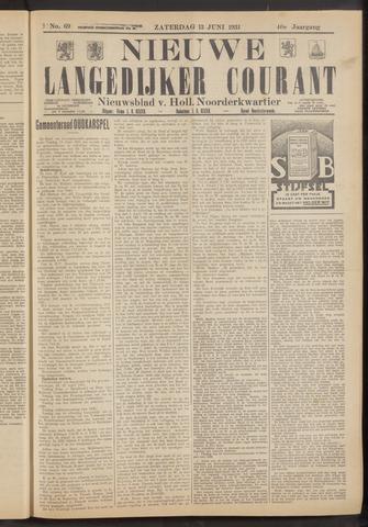 Nieuwe Langedijker Courant 1931-06-13