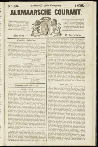 Alkmaarsche Courant 1856-11-17