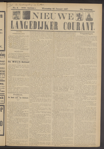 Nieuwe Langedijker Courant 1920-01-28