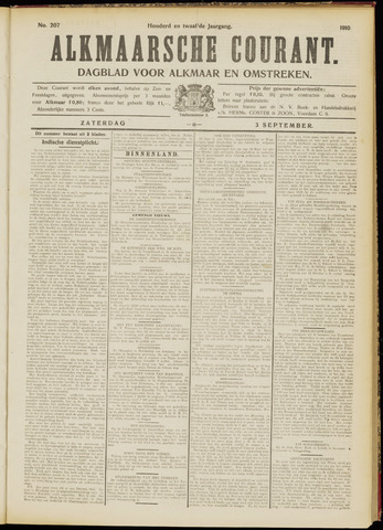 Alkmaarsche Courant 1910-09-03