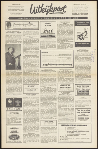 Uitkijkpost : nieuwsblad voor Heiloo e.o. 1968-08-15