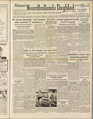 Nieuw Noordhollandsch Dagblad : voor Alkmaar en omgeving 1949-08-22
