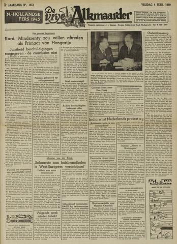 De Vrije Alkmaarder 1949-02-04