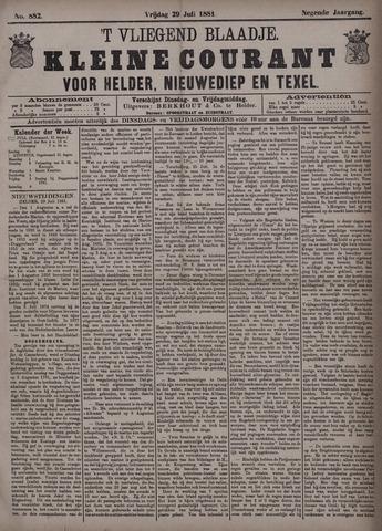 Vliegend blaadje : nieuws- en advertentiebode voor Den Helder 1881-07-29