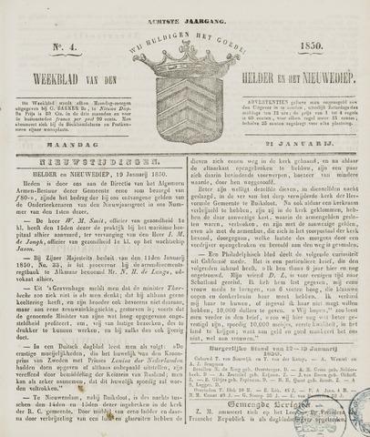 Weekblad van Den Helder en het Nieuwediep 1850-01-21