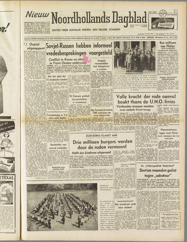 Nieuw Noordhollandsch Dagblad : voor Alkmaar en omgeving 1951-05-19