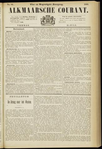 Alkmaarsche Courant 1892-07-15