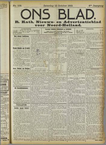 Ons Blad : katholiek nieuwsblad voor N-H 1912-10-12