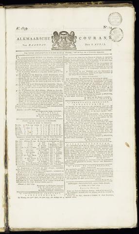 Alkmaarsche Courant 1839-04-08