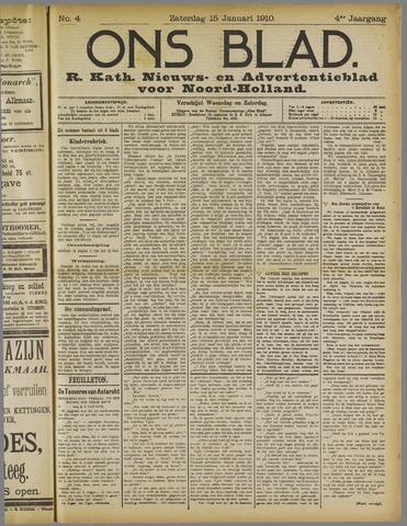 Ons Blad : katholiek nieuwsblad voor N-H 1910-01-15