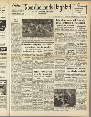 Nieuw Noordhollandsch Dagblad : voor Alkmaar en omgeving 1951-09-18
