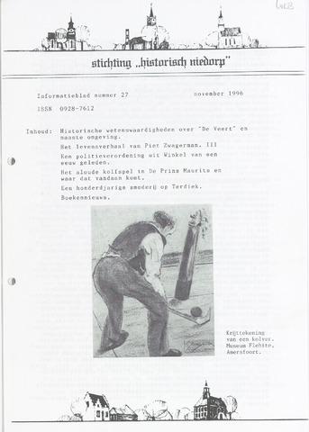 Informatieblad stichting Historisch Niedorp 1996-11-01
